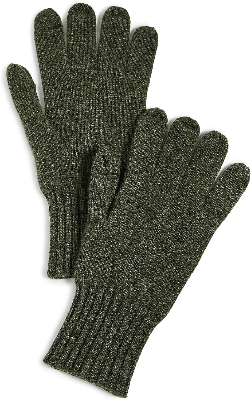 Carolina Amato Women's Cashmere Texting Gloves, Olive, Green, One Size