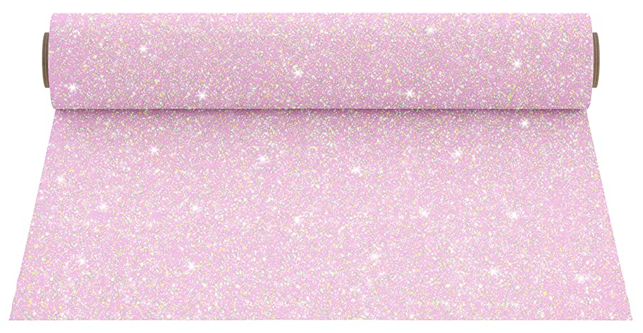 Firefly Craft Glitter Heat Transfer Vinyl for Silhouette and Cricut, 12 Inch by 20 Inch, Ballet Pastel Pink