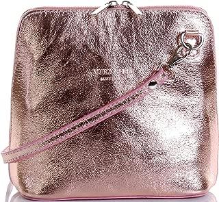 Primo Sacchi Genuine Italian Leather, Small Shoulder Bag Handbag. Includes Branded a Protective Storage Bag.