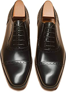 Alipasinm Men's Oxford Lace Up Genuine Leather Formal Office Dress Shoes