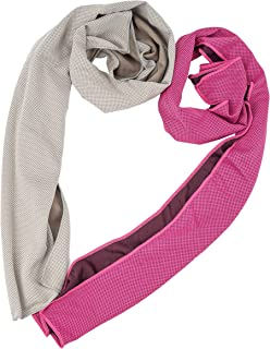 "Cooling Towel, Cool Towel for Instant Cooling Relief, Chilling Neck Wrap, Ice Cold Scarf For Men & Women, 40x12"", Microfiber Bandana, Evaporative Chilly Towel For Yoga Golf Travel (grey+red)"