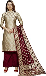 satyam weaves women's ethnic wear cotton silk dress material. (Shubh)