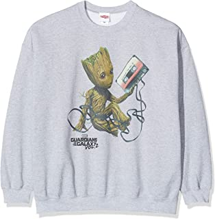 MARVEL Men's Guardians of The Galaxy Vol2 Groot Tape Sweatshirt, Grey (Sports Grey SpGry), XX-Large (Size:XXL)