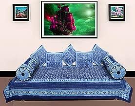 Jaipuri Vastra 300 TC 100% Cotton Dabu Print Diwan Set of 8 Piece