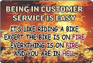 Rogue River Tactical Funny Customer Service Tin Sign Wall Decor Man Cave Bar Easy Retail Sales