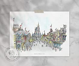 Disney World Main Street USA Art | Quality Prints taken from my Original Detailed Illustration & Watercolor.
