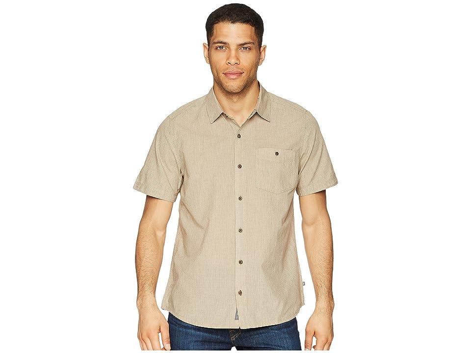 Toad&Co Airbrush Levee Short Sleeve Shirt (Honey Brown) Men