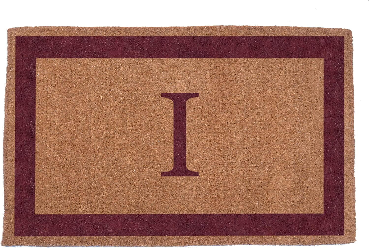 Hand Woven Red Single Bordered by Doormat Ranking TOP18 Coco depot Monogrammed