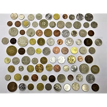 Novelty Collections 90 World Coins-Minimum 30 Countries(All Different)