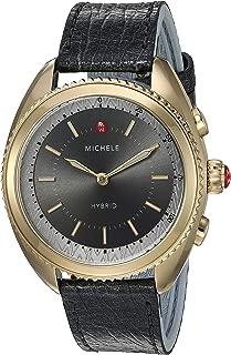 Women's Hybrid Smartwatch Stainless Steel Quartz Watch with Leather-Ostrich Strap, Blue, 17.8 (Model: MWWT32A00013)