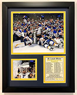 Legends Never Die NHL Unisex NHL St. Louis Blues 2018-2019 Stanley Cup Champions Framed Double Matted Photos