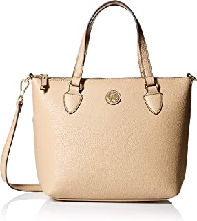 Anne Klein Solid Convertible Top Zip Satchel