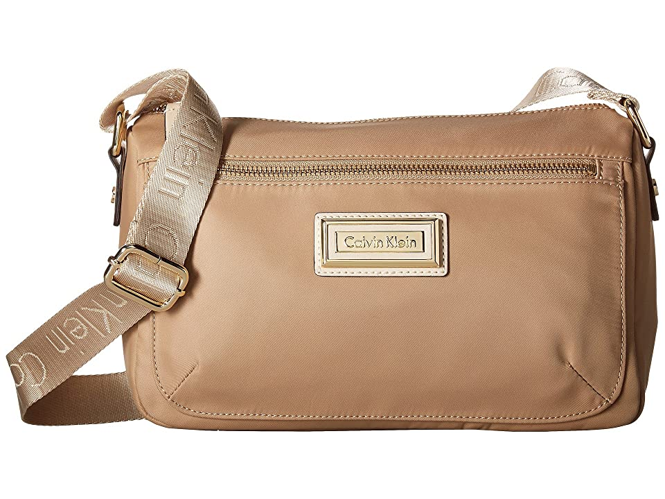 Calvin Klein Belfast Nylon Crossbody (Sand) Cross Body Handbags