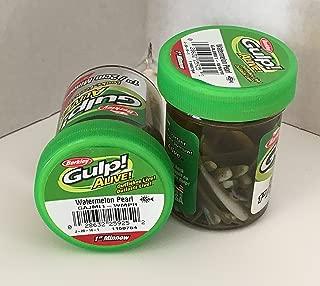 Gulp! Alive! Gulp Bait 1 INCH Watermelon Pearl Minnow 2 jar Bundle Berkley Perch Minnows ice Fishing Bait Panfish Minnows