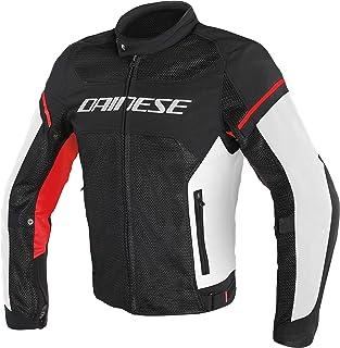 Dainese 1735196_858 Chaqueta Moto Verano, Negro/Blanco/Rojo, 52 EU