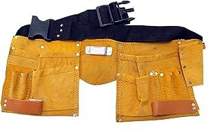 comprar comparacion Cinturón portaherramientas de piel con 11 bolsillos