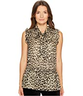 Kate Spade New York - Leopard Clipped Dot Top