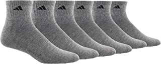 adidas Men's Athletic Cushioned Quarter Sock (6-pair)