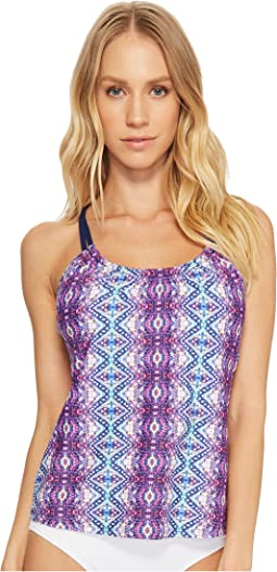 Herati Third Eye 3 Shirr Tankini Top