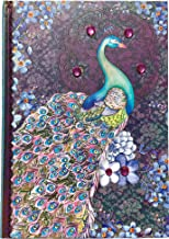 Pooch & Sweetheart Gold Foil Gem Embellished Journal, Purple Pashima Peacock 95594