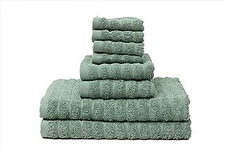 Premium 8 Piece Cotton Bath Towel Set; 2 Bath Towels 27 x 52