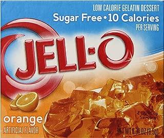 JELL-O Orange Sugar Free Gelatin Dessert Mix (0.30 oz Boxes, Pack of 24)
