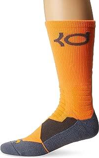 Men's Hyper Elite Kevin Durant KD Total Orange/University Gold/Blue Graphite Basketball Socks