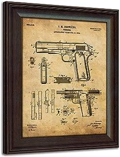 Personal Prints 1911 Handgun Framed 14