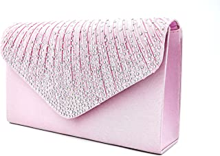 414a6b31f7 Nodykka Women Evening Envelope Handbag Party Bridal Clutch Purse Shoulder  Cross Body Bag
