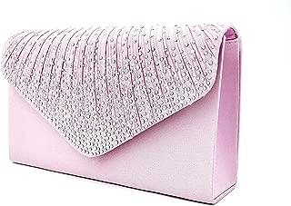 Women Evening Envelope Handbag Party Bridal Clutch Purse Shoulder Cross Body Bag
