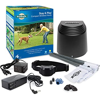 PetSafe Stay & Play Compact Wireless Fence for Dogs and Cats – from the Parent Company of INVISIBLE FENCE Brand – Above Ground Electric Pet Fence.