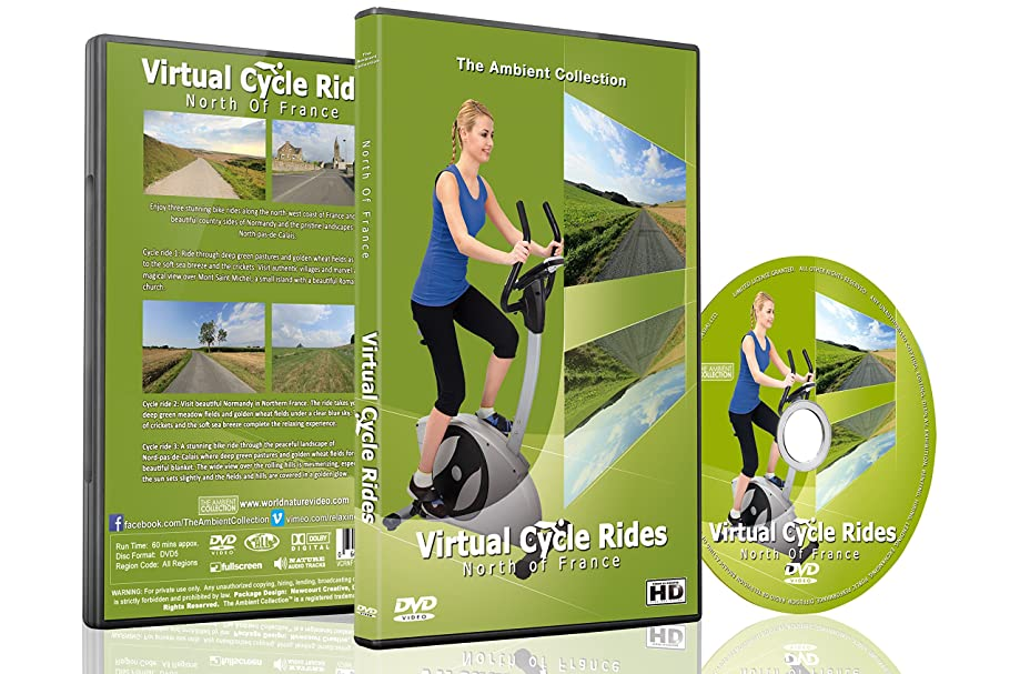 Virtual Cycle Rides - North Of France - For Indoor Cycling, Treadmill and Running Workouts