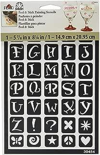 FolkArt Peel and Stick Painting Stencil, 30454 Fun Alphabet