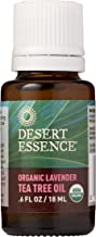 Desert Essence Organic Essential Oil - Lavender Tea Tree Oil - 0.6 Fl Oz - Relaxing Aromatherapy - Soothes and Calms Skin - Freshens Laundry - House Cleanser - Relaxing - Vegan - USDA Certified