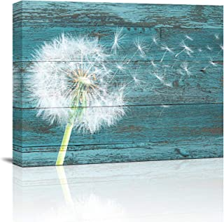 "Canvas Wall Art Abstract Dandelion Life Painting 12"" x 16""Pieces Framed Canvas.."