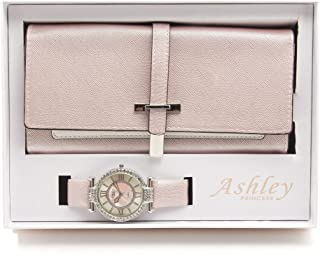 Women's Essentials - Matching Womens's Watch & Colorful 2 Layer Design Wallet Gift Set - ST10234 Pearly Pink