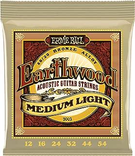 Ernie Ball Earthwood Medium Light 80/20 Bronze Acoustic Set, .012 - .054