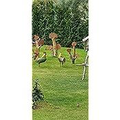 Entenpaar Riesiges sch/önes Metall Figurenpaar Eulen oder Enten Set W-G Gartenfigur Dekofigur Gartentierfigur