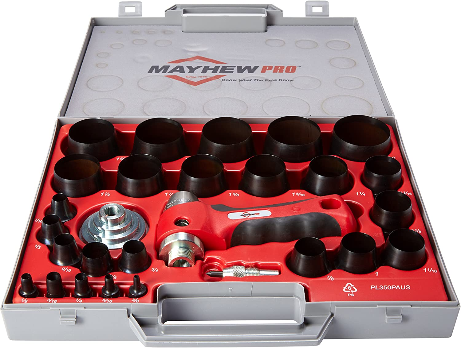 Mayhew Pro 66080 1 8-Inch Omaha Mall to 2-Inch Manufacturer regenerated product Punch SAE Imperial Hollow Se