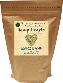 Hemp Hearts - USA Grown - Certified Organic, Vegan, Kosher, Gluten Free - Superfood
