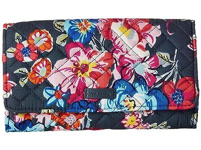 Vera Bradley Iconic RFID Audrey Wallet (Pretty Posies) Wallet Handbags