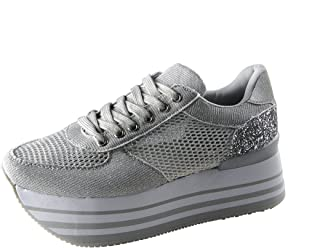 ROXY ROSE Women Comfortable Platform Sneakers Breathable Mesh Casual Walking Shoes