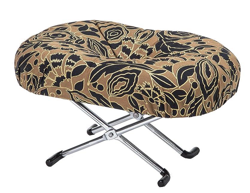 女性きらめく展示会住友産業 コンパクト らくらく正座椅子E-9-3 折りたたみ式 正座椅子えくぼ3段式 黒金