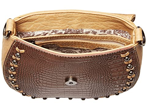 M&F Western Kinsey Crossbody Brown/Tan Clearance Online Fake Cheap Price Discount Authentic Cheap Sale Get Authentic Shop Cheap Online Real Cheap Price MX9sKCj5S