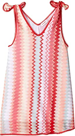 Multiline A-Line Dress (Toddler/Little Kids)