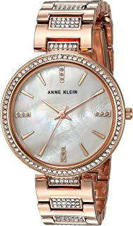Women's AK/3126BMRG Swarovski Crystal Accented Rose Gold-Tone Bracelet Watch