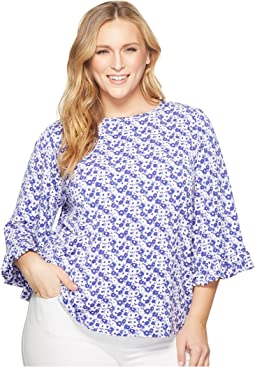 Plus Size Carnation Flare Sleeve Top