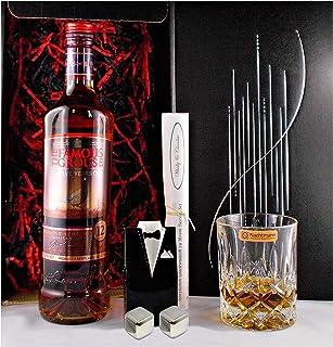 Geschenk Famous Grouse 12 Jahre Scotch Whisky  Glas  2 Whiskey Kühlsteine