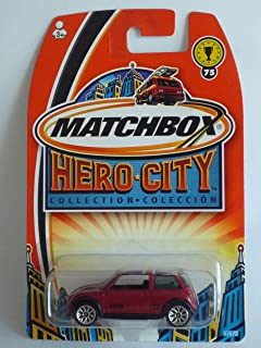 MATCHBOX 2003 (Mattel) HERO - CITY COLLECTION MINI COOPER S RED W /BRITTISH FLAG