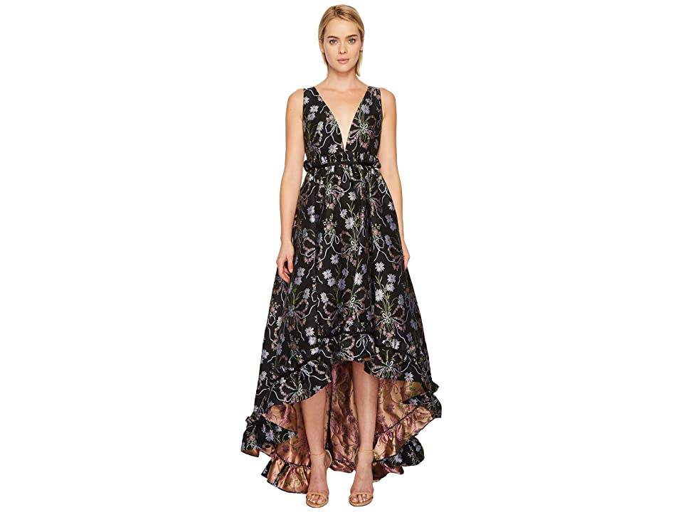 ZAC Zac Posen Judith Gown (Black Multi) Women